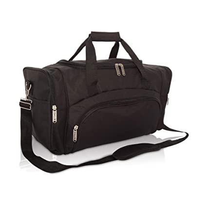c663aa007bab Amazon.com  DALIX Signature Travel or Gym Duffle Bag in Black ...