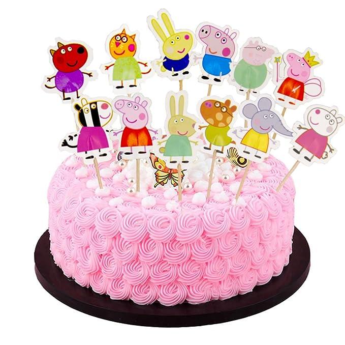 Amazon.com: Peppa Pig - Decoración para cupcakes (24 ...