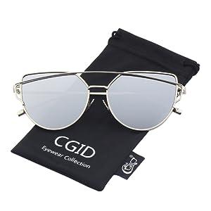 d41023c5cd9f3c CGID MJ74 Lunettes de soleil polarisées cateye modernes et fashion  réfléchissantes UV400 pour femmes