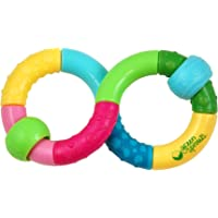 green sprouts Infinity Teether Rattle Toy,Multicolor