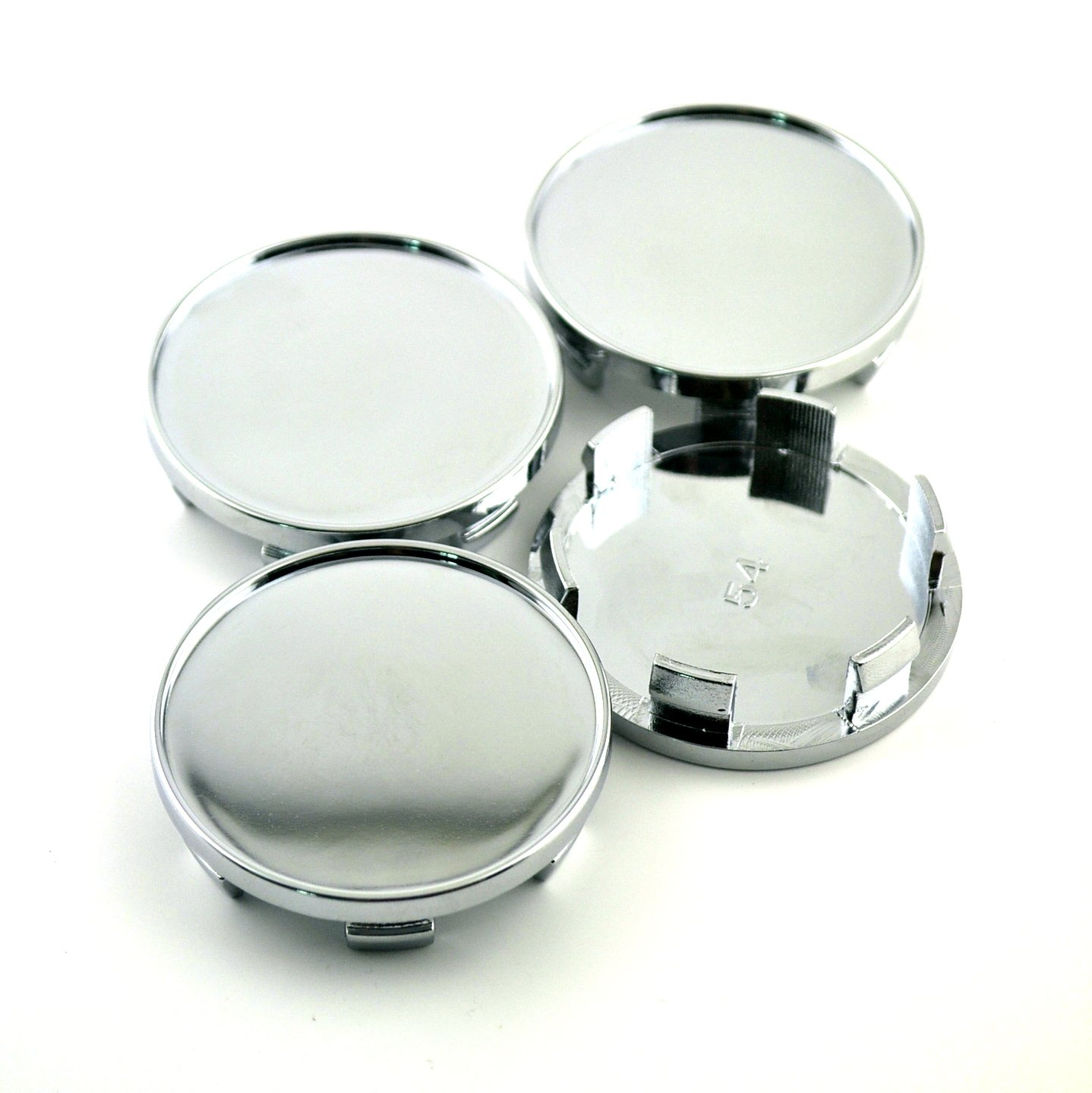 54mm Silver ABS Car Wheel Center Hub Caps Set of 4 by General (Image #2)