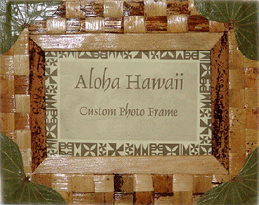 5x7 Alii of Hawaii Haole Koa /& Sea Grape Picture Frame