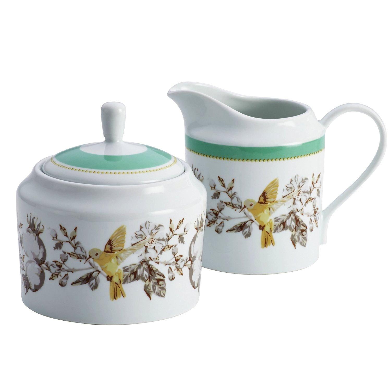 BonJour Dinnerware Fruitful Nectar Porcelain Sugar and Creamer Set