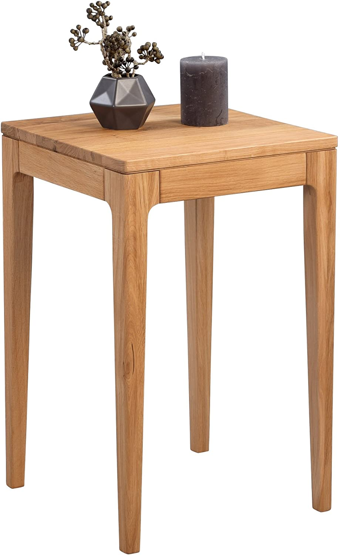 HomeTrends4You Theo 2 Beistelltisch, Holz, Wildeiche massiv geölt, 38 x 38 x 60 cm