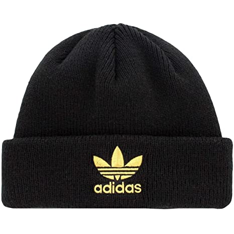 0f0a8ca408543 Amazon.com  Adidas Womens Originals Trefoil Ii Knit Beanie Black ...