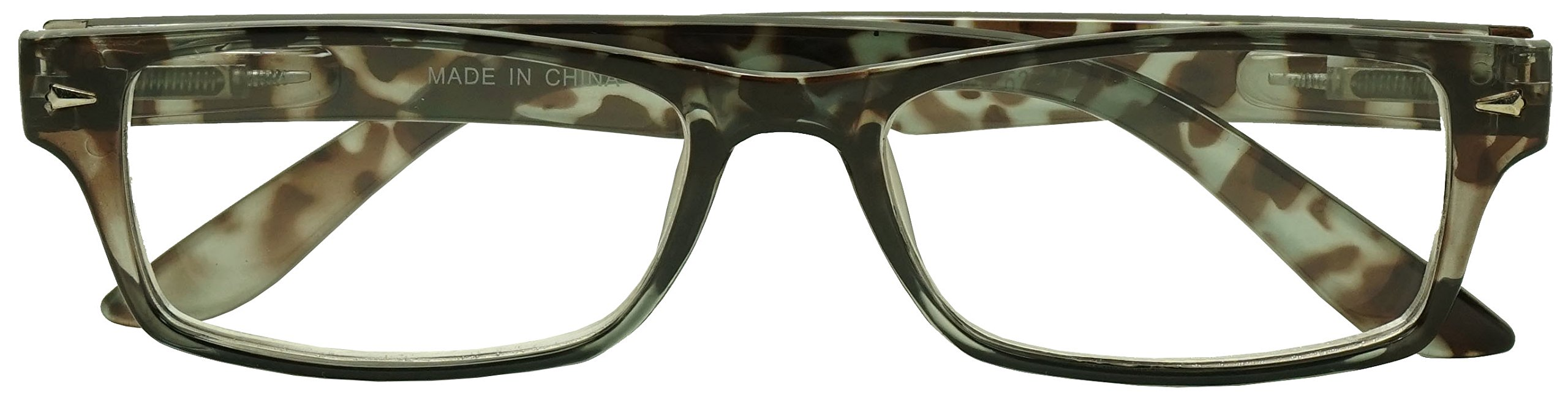 cc00f67a60 Classic Rectangular Negative Strength Prescription Eyewear Glasses Power -1.00  thru -2.25 (Grey Tortoise