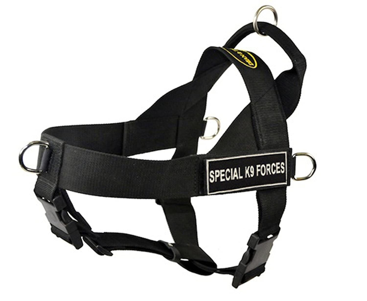 Dean & Tyler Universal No Pull Dog Harness, Special K9 Forces, X-Large, Fits Girth, 91cm to 119cm, Black