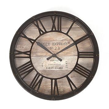 Orologio da parete stile vintage - Colore marrone ramato effetto ...