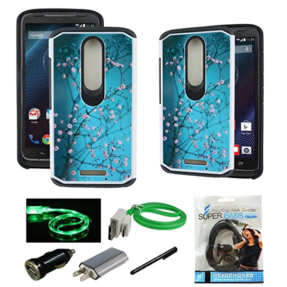 Droid Turbo 2 Case, Mstechcorp [Shock Absorption] Heavy Duty Hybrid Dual Layer Armor