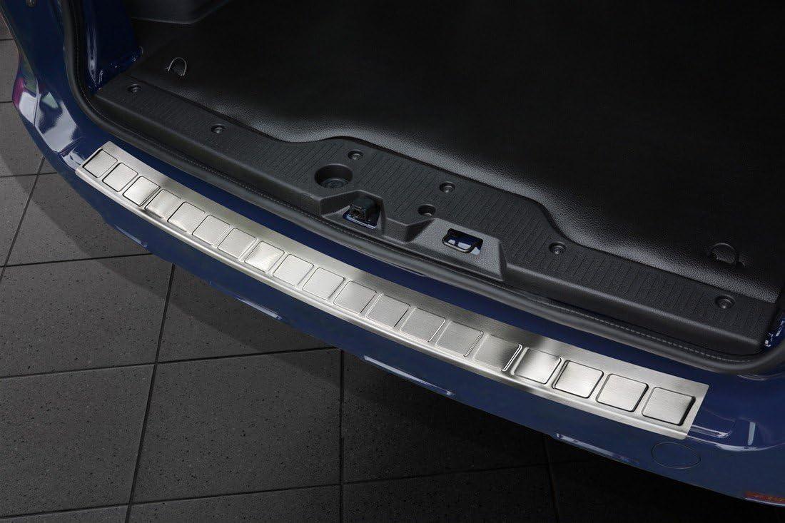 Avisa 2 35141 Edelstahl Heckstoßstangenschutz Dacia Dokker 2012 2017 2017 Ribs Silber Auto