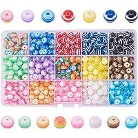 Pandahall elite 1caja 450piezas perlas de resina banda
