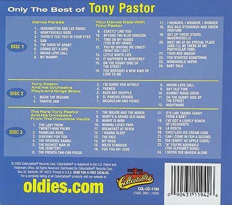 Tony Pastor - Only The Best Of Tony Pastor 3-CD - Amazon com