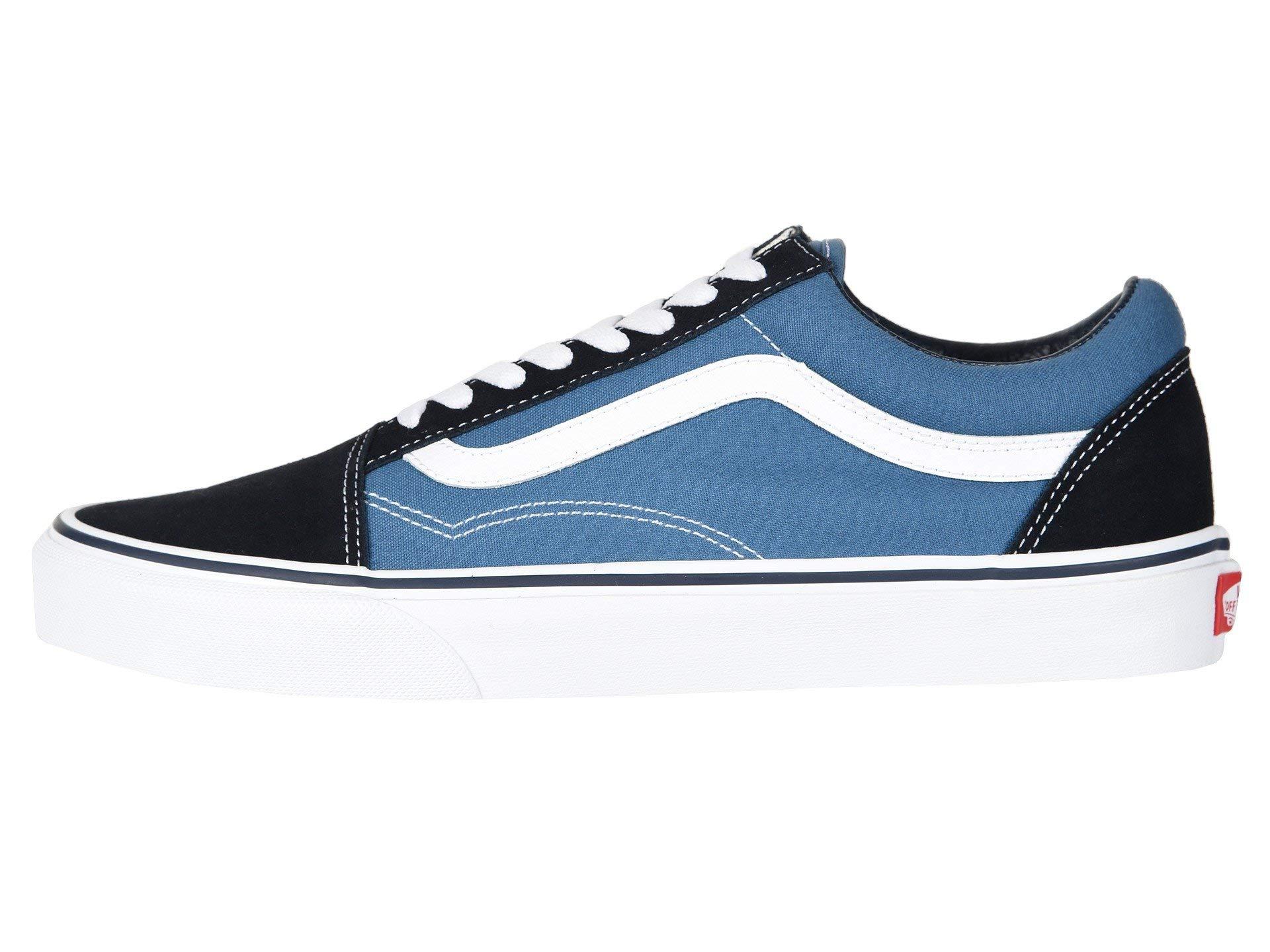 Vans Off The Wall Old Skool Sneakers (Navy) Men's Skateboarding Shoes by Vans (Image #4)