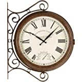 Smart Solar 5063020 – Greenwich Double Sided Station Clock with Thermometer, 38 x 38 x 5 cm, White