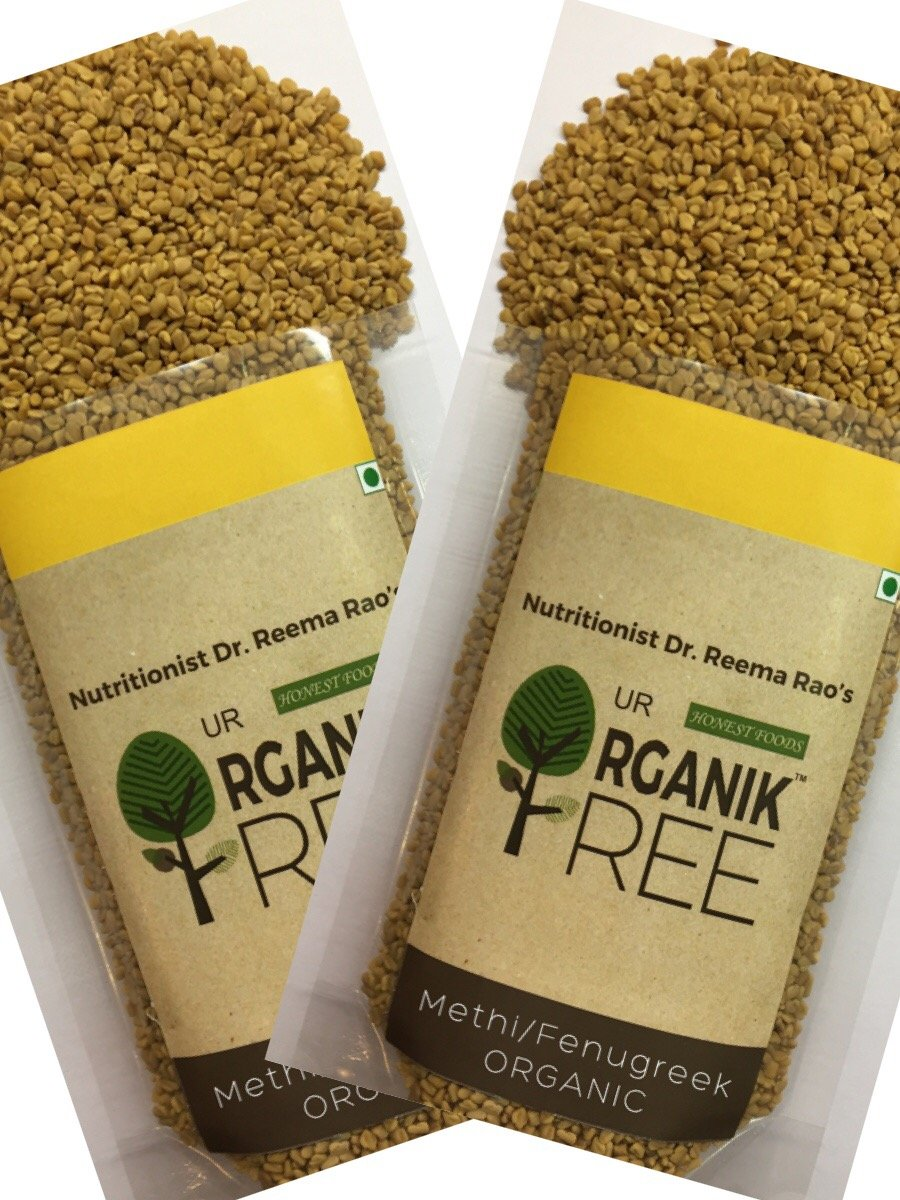 Our Organik Tree ORGANIC Fenugreek/Methi Seeds Pack of 2 ; 14 Ounce/400gms