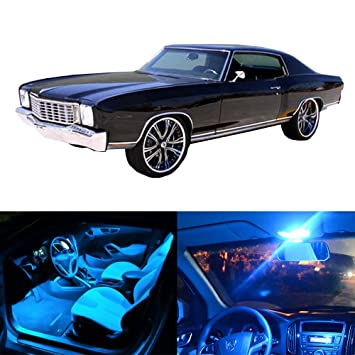 CCIYU LED Bulb Interior Lights 10pcs Ice Blue Package Kit Accessories Replacement For 2000 2007 Chevy Monte Carlo Light Kits