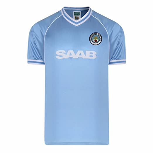Manchester City FC Mens Official 1982 Retro Soccer Shirt (S) (Light Blue) 95c8aa7a7