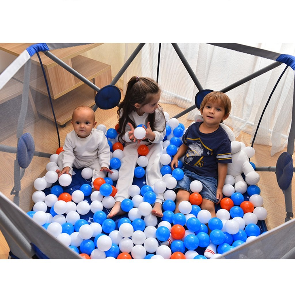 Color : Blue, Size : 146 * 146 * 77cm Fence infant play fence safety fence baby fence folding toddler fence baby indoor playground fence Baby