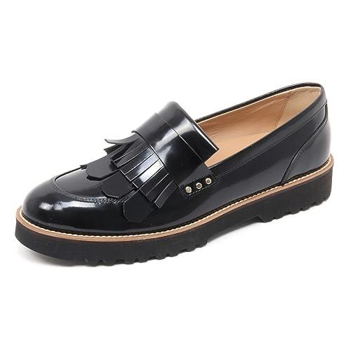 Hogan B6078 Mocassino Donna H259 Scarpa Frangia Nero Shoe