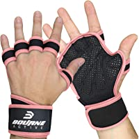 Ventilated Fitness Gym Weight Lifting Gloves with Built-in Wrist Wraps for Men & Women. Full Palm Protection & Extra…