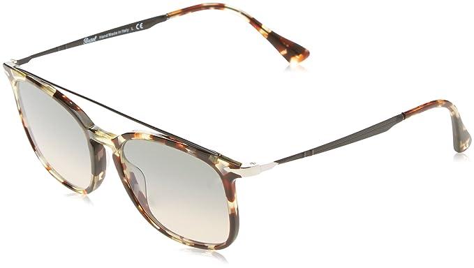 7087c93178 Persol Men s PO3173S Sunglasses Havana Grey Brown Clear Gradient Grey 54mm