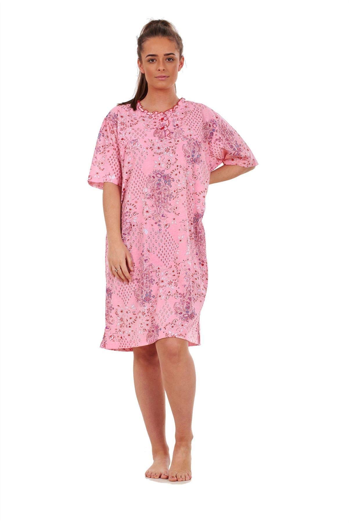 Knee Length Nightie Chemise Nightdress By Indigo Sky Magenta Pink 8//10 12//14
