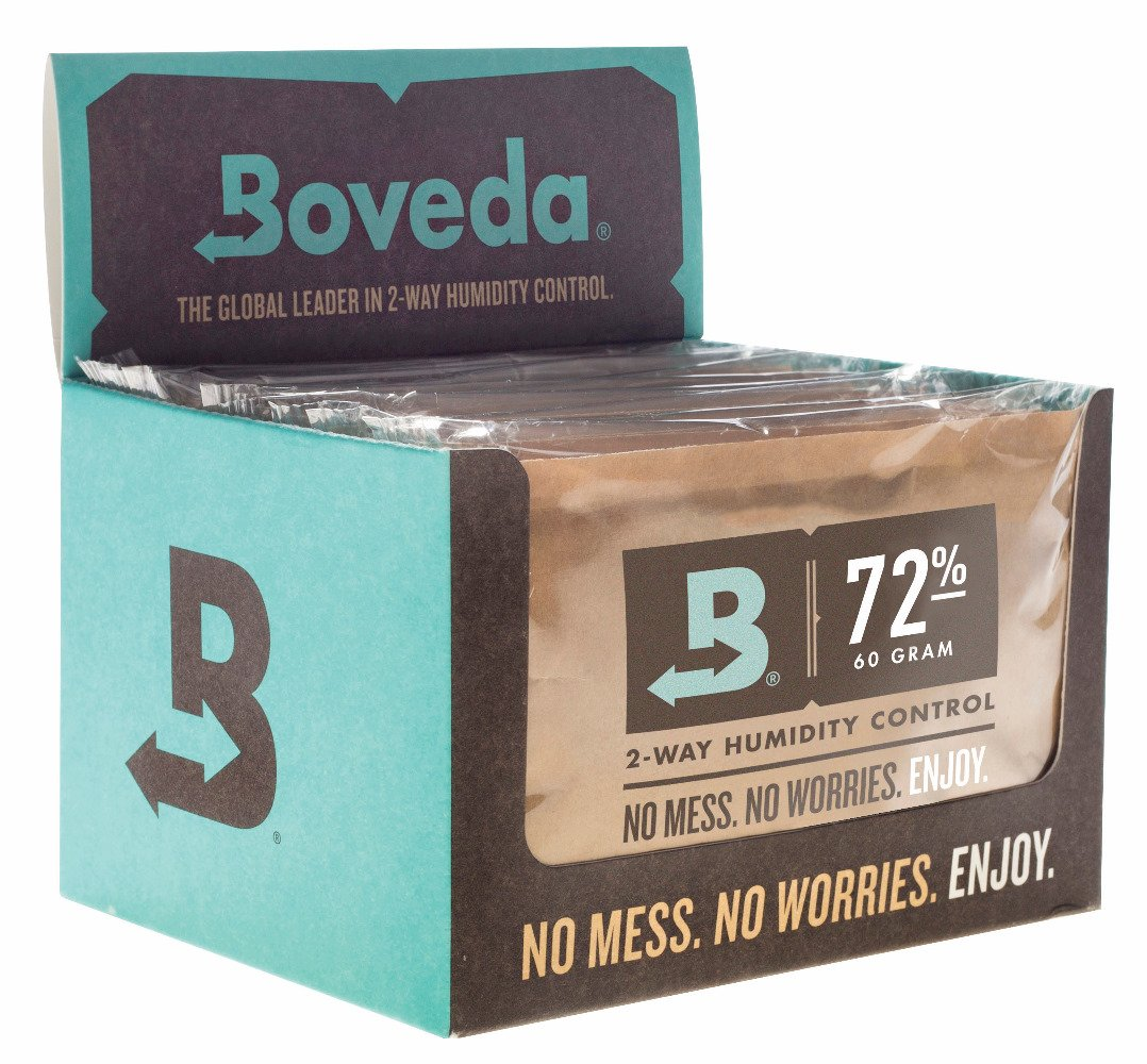 Boveda 72-Percent RH Retail Cube Humidifier/Dehumidifier, 60gm - Pack of 12 by Boveda