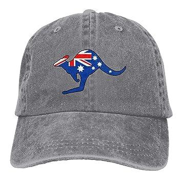 Walnut Cake Sports Denim Cap Australian Kangar Flag Women Golf Hats Washed  Denim Cap  Amazon.co.uk  Sports   Outdoors fe416eea0a6