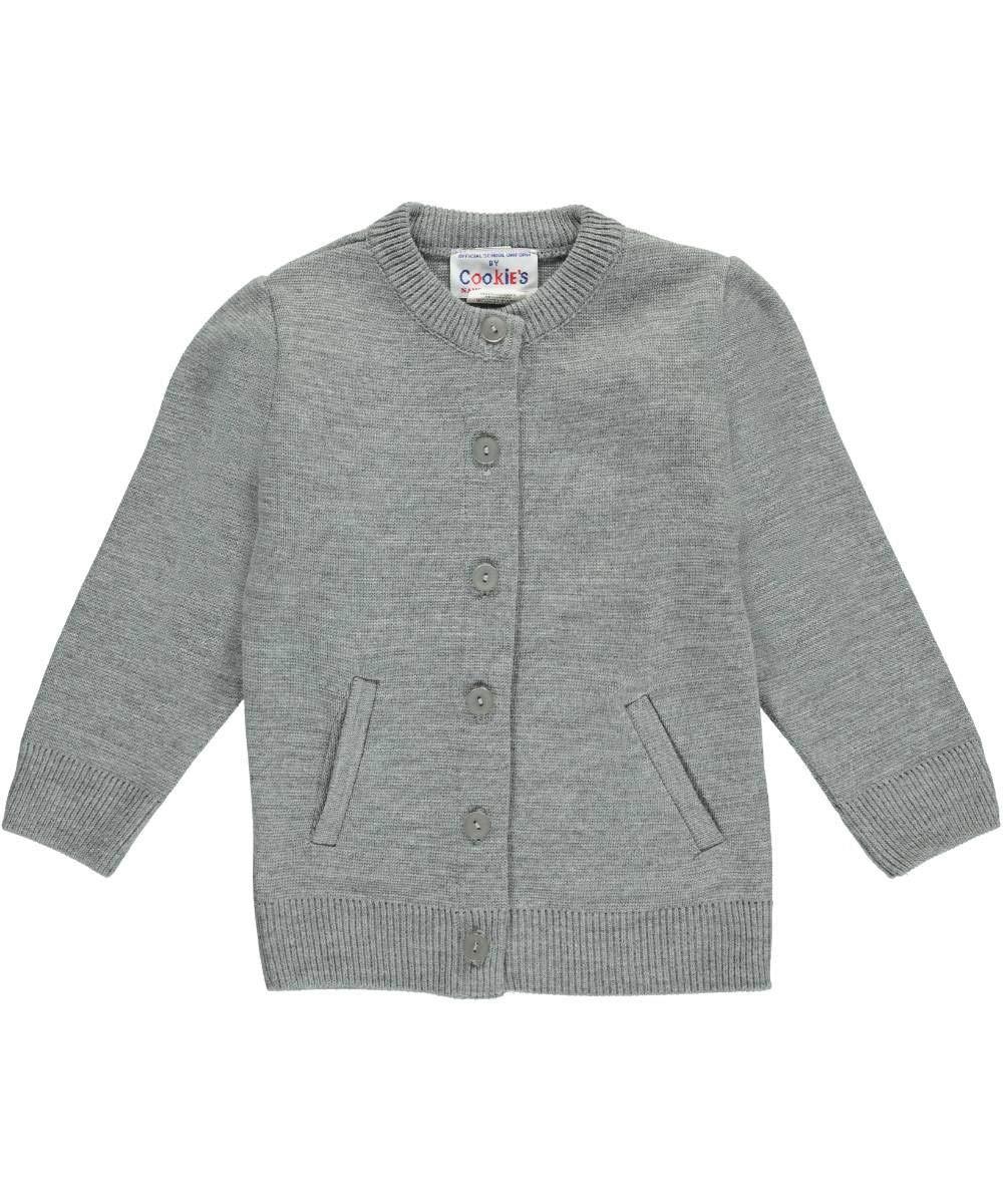 Cookie's Brand Big Girls' Crewneck Cardigan Sweater - Gray, 10 by Cookie's Kids (Image #3)