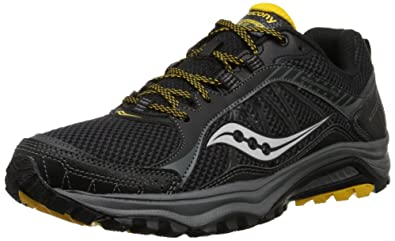 Saucony Men's Excursion TR9 Running Shoe, Black/Yellow,8 ...