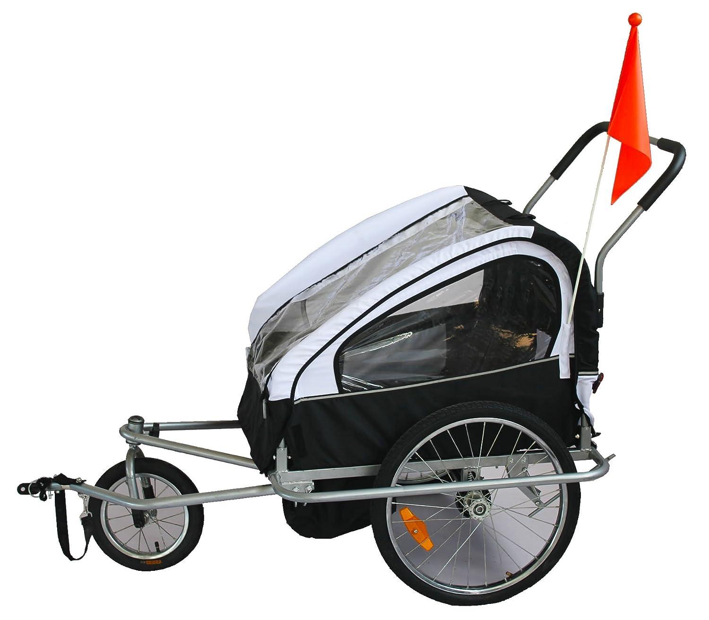KMS Child Kids Bike Trailer Stroller Jogger for 1 to 2 Children ...