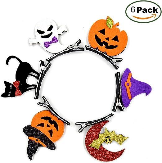 Halloween horquilla, 6-Pack, murciélagos, calabaza, cráneo, bruja Cap, gato negro, fantasma para fiesta de Halloween ...