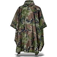 Black Snake Outdoor Regenponcho | Ripstop Regencape mit Kapuze | Regen Poncho inkl. Tasche | Regenjacke für Damen und Herren