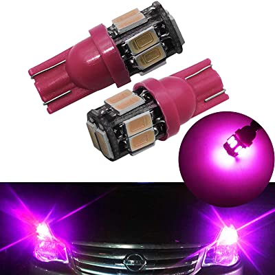 YaaGoo Compact Small bulb License Plate Lights Lamp,T10 168 194 2825 W5W,pink,2pcs: Automotive