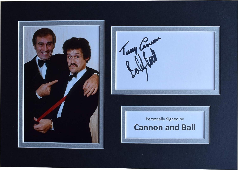 Sportagraphs LTD Cannon /& Ball Signed Autograph A4 photo display Comedy TV AFTAL COA