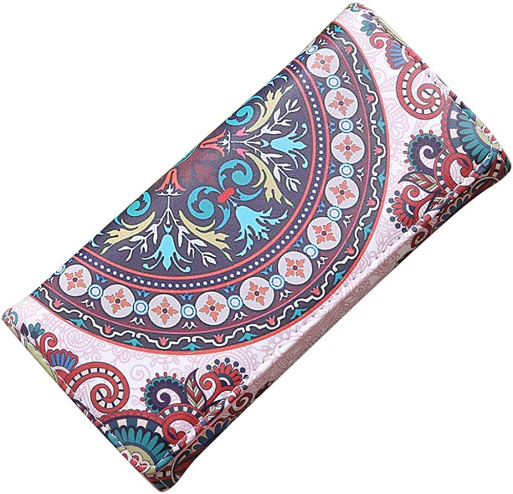 zbtrade Fashion Vintage Women Faux Leather Multicolor Long Folding Wallet Card Holder Coin Purse