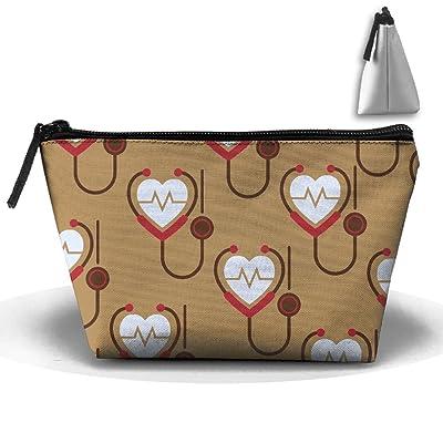 Stethoscope Heartbeat Funny 3D Print Unisex Trapezoid Receive Bag Portable PortableTravel Cases