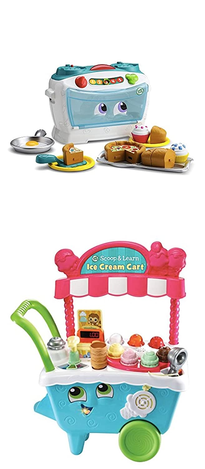 Bundle Includes 2 Items - LeapFrog Scoop & Learn Ice Cream Cart and LeapFrog Number Lovin' Oven