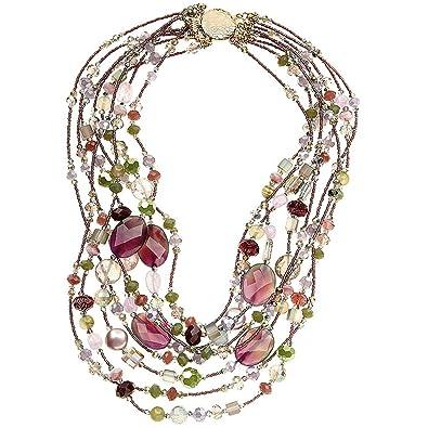nessuna tassa di vendita moda vendita professionale Collana girocollo donna OTTAVIANI con perle agata e cristalli ...
