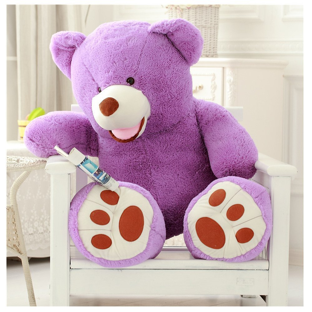 YunNasi 79 inch Purple Giant Teddy Bear Plush Stuff Animal Toy