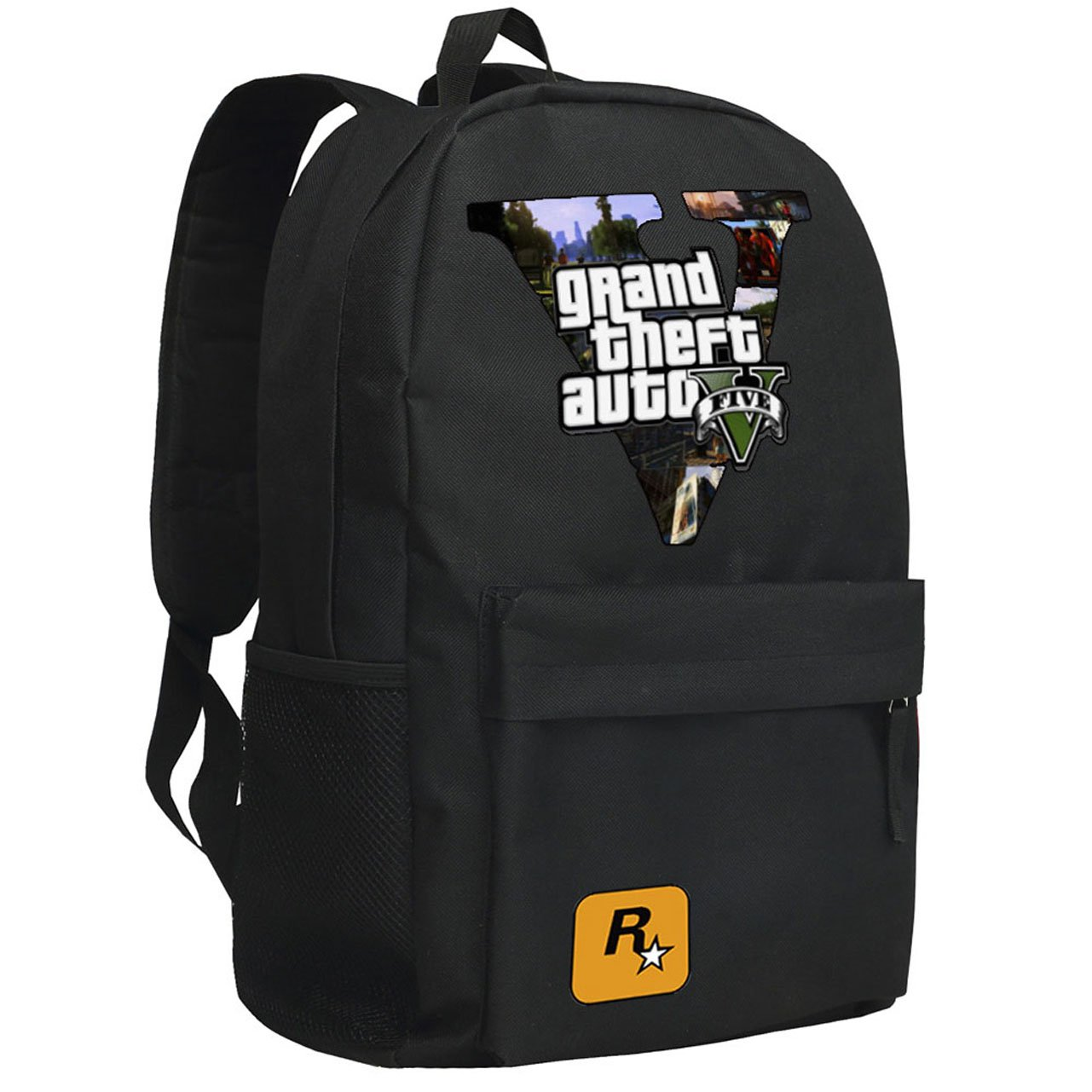 Grand Theft Game Auto 5 Bag Cool GTA5 Black Sports Style A Backpack