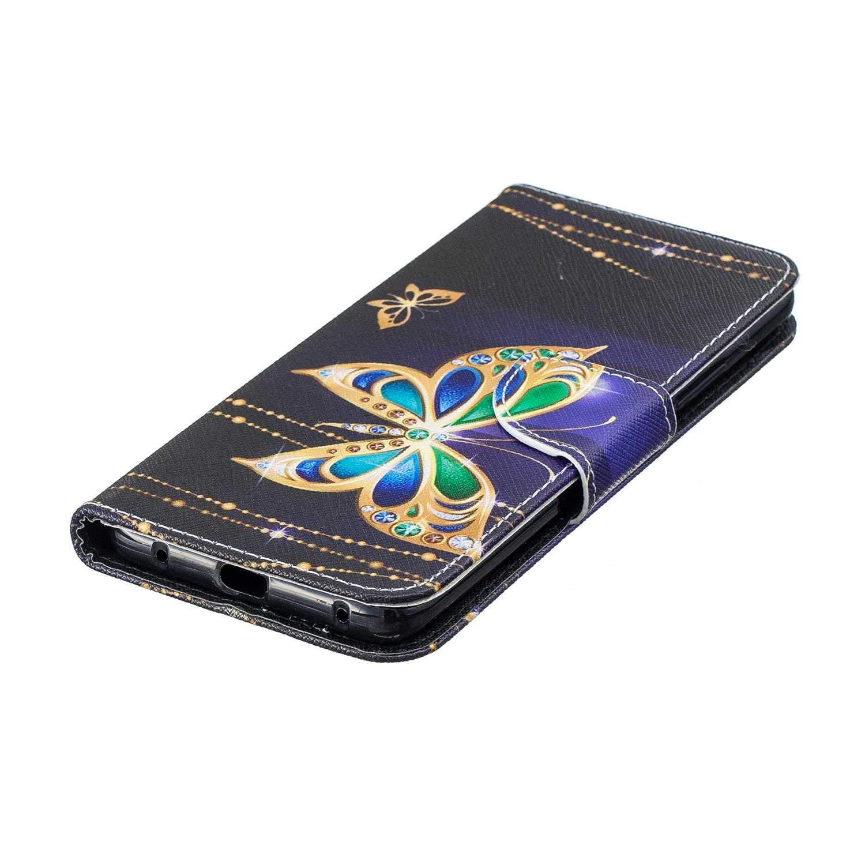 Flip Carcasa para Huawei Mate 20 Pro con Soporte Plegable y Ranuras para Tarjetas Funda Huawei Mate 20 Pro Arbol CAXPRO/® Billetera Cuero Funda interior TPU