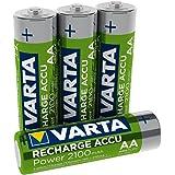 Varta Rechargeable Accu Ready2Use vorgeladener AA Mignon 2100 mAh Ni-Mh Akku (4er Pack, wiederaufladbar ohne Memory-Effekt, sofort einsatzbereit)