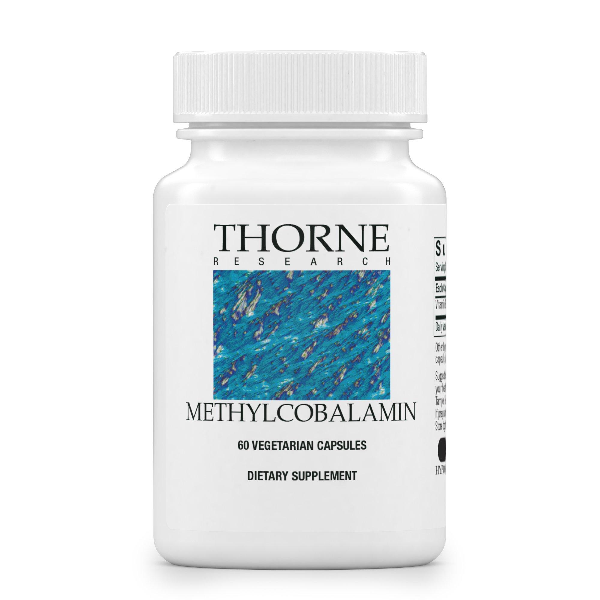 Thorne Research - Methylcobalamin (Methyl B12) - Active Form of Vitamin B12 - 60 Capsules