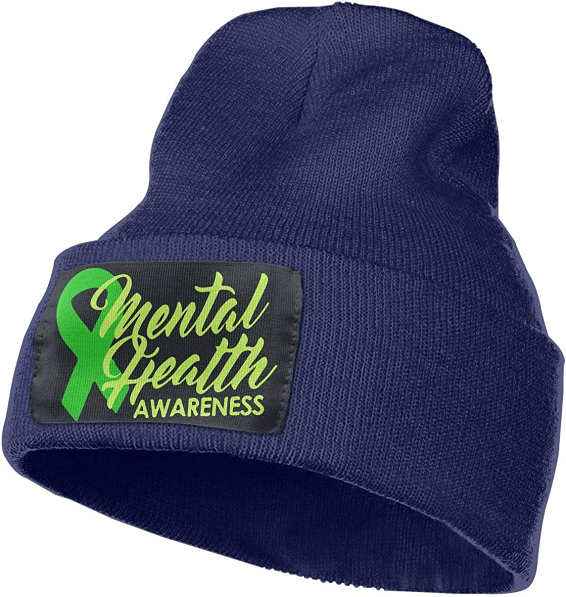 MaoXCatt Mental Health Awareness Ribbon Men Women Winter Comfortable Knitted Hat