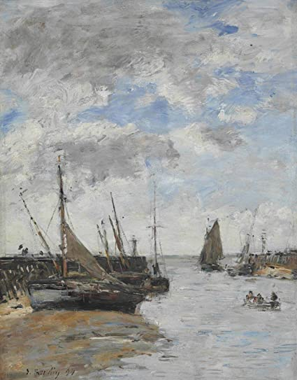 Amazon com: The Museum Outlet - Trouville, the Jetties in