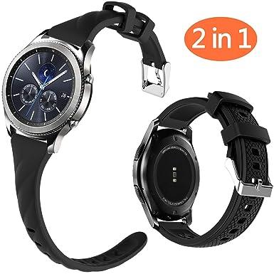 Correa de Reloj de Silicona para Mujer con Cierre de Metal para Samsung Gear S3 Frontier