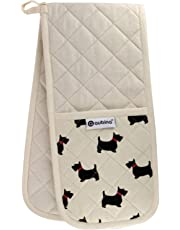Animal Oven Glove, Luxury Animals Printed Design Double Oven Gloves & Single Mitts, 100% Cotton Oven Mitts, Heavy Duty Heat Resistant Novelty Kitchenware