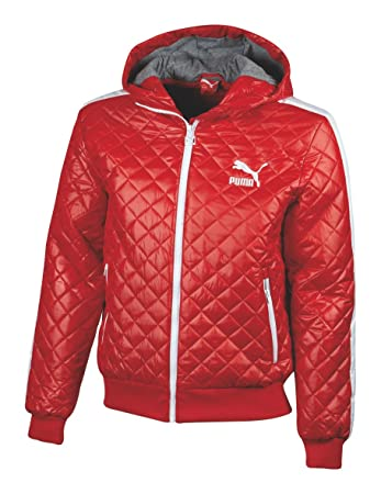 ad00aaf23a6 Puma Arch Me Padded Jacket Herren Medium rot - Ribbon Red: Amazon.de ...