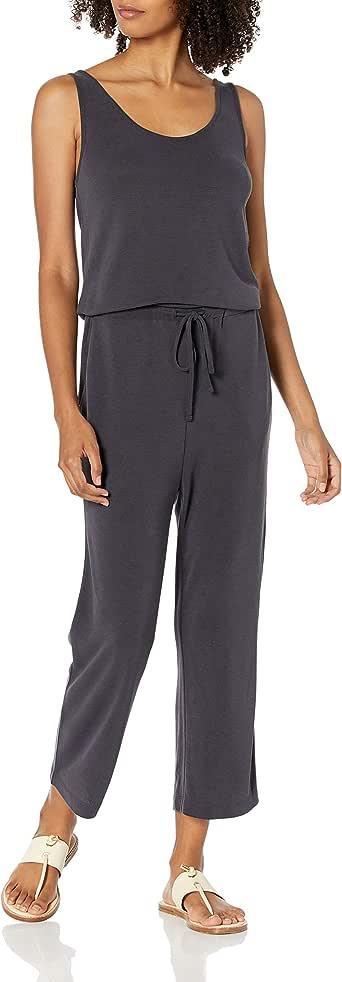 Amazon Brand - Daily Ritual Women's Sandwashed Modal Blend Sleeveless Wide-Leg Jumpsuit